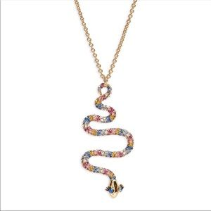 NWT Kate Spade Crystal Snake Long Necklace